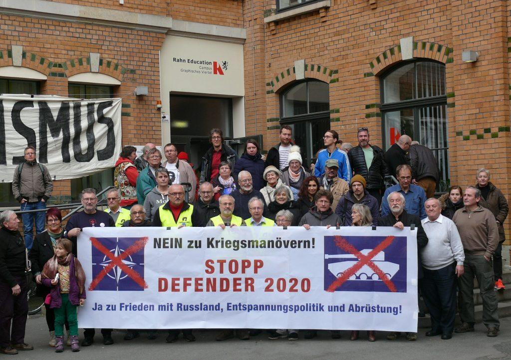 AntiDEF20-Aktionstreffen in Leipzig